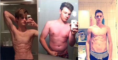 健身圈的3位励志小伙,同样是16岁,通过健身成功蜕变成肌肉型男