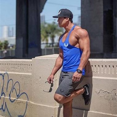 肌肉兄弟健身运动纯棉训练短裤