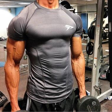 肌肉兄弟男士弹力紧身训练服速干T恤