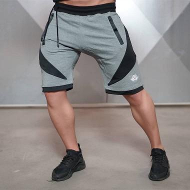 肌肉兄弟男士纯棉跑步健身短裤