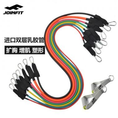 Joinfit力量训练拉力器弹力绳(黄色10磅无把手)