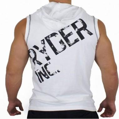 肌肉兄弟男士健身运动无袖连帽马甲训练背心