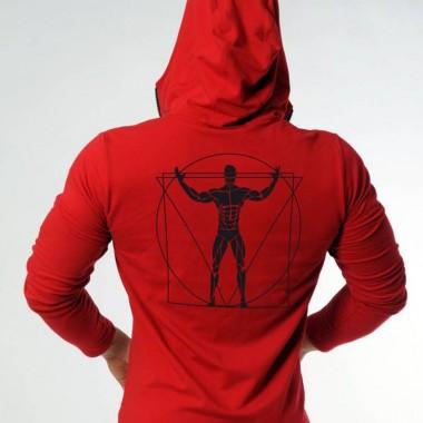 肌肉兄弟健身运动时尚连帽训练卫衣
