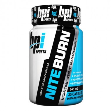 BPI Sports NITE-BURN夜间燃脂减肥胶囊30粒含褪黑素促睡眠