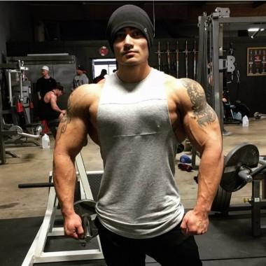 肌肉兄弟男士透气吸汗健身背心