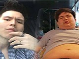 情路受阻 泰国300多斤男子减150斤变男神