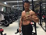 肌肉劲爆,比例协调,在福州练健身不知王旺城你就白练了