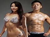 韩国胖大叔在妻子怀孕期间, 用半年猛减44斤, 摇身一变成肌肉男