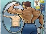 健身中会有人陷入一种极端,无论肌肉练得多强壮,总认为自己很弱