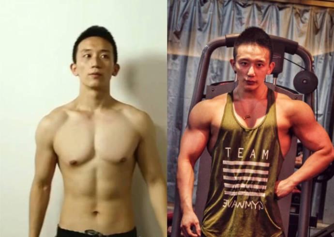 中国传媒大学的肌肉型男,练就霸气胸肌麒麟臂,转行做了明星私教