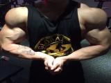 爱健身的90后,大学四年雕刻出霸气胸肌人鱼线,练就强大麒麟臂