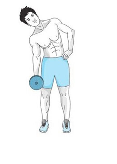哑铃腹肌锻炼方法视频