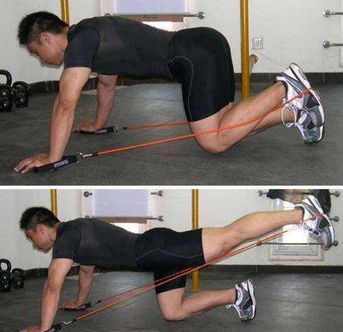 一字 绳锻炼|脚蹬拉力绳|弹力绳锻炼