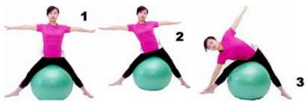 健身球蜜蜡动作打孔性感美腿-健网视频瑜伽打造图片