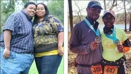 夫妻健身5年共减肥227公斤 爱就是一起慢慢变好_健网