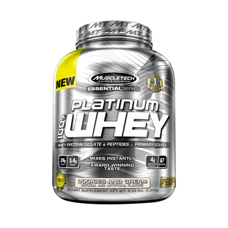 Muscletech麦斯泰克肌肉科技白金乳清蛋白粉5磅