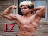 17岁肌肉小伙,两年长了18斤肌肉,网友却质疑他吃药长不高!